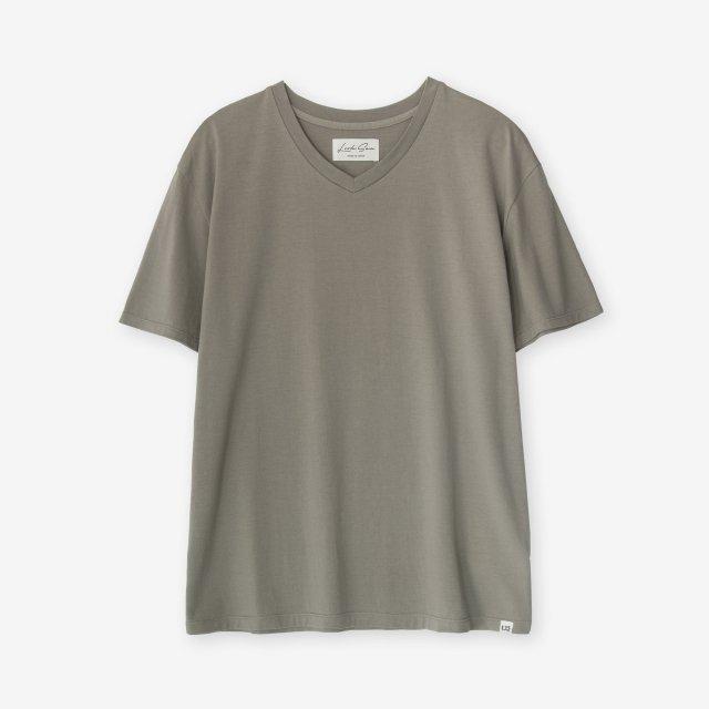 <span>Cotton&Silk V-neck Jersey T-shirts / Khaki</span>コットン&シルク Vネック天竺Tシャツ / カーキ