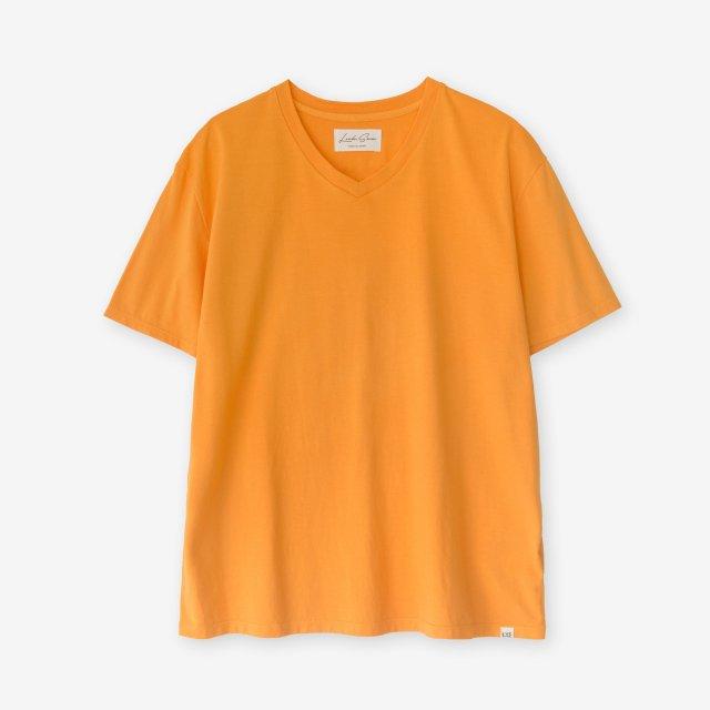 <span>Cotton&Silk V-neck Jersey T-shirts / Orange</span>コットン&シルク Vネック天竺Tシャツ / オレンジ