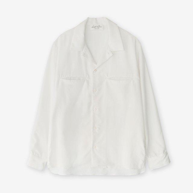 <span>Silk Open Collar Shirts / Off White</span>シルク 開襟シャツ / オフホワイト
