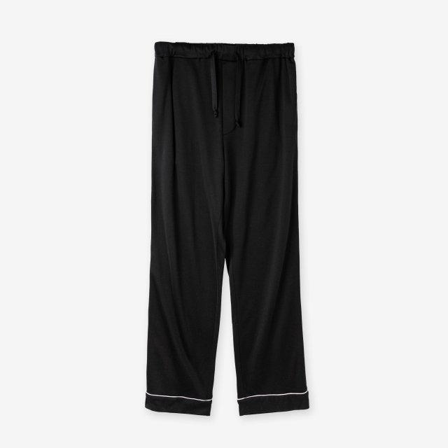 【2019AW】絹紡シルク パジャマパンツ / ブラック