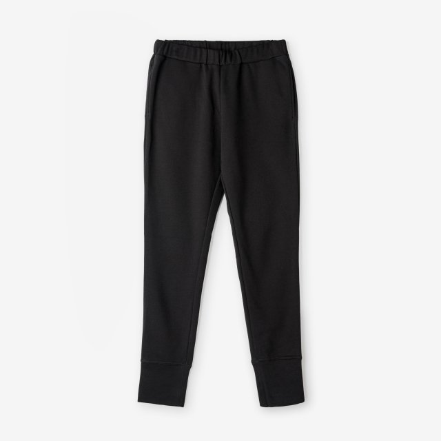 <span>Cotton&Silk Easy Pants / Black</span>コットン&シルク イージーパンツ / ブラック