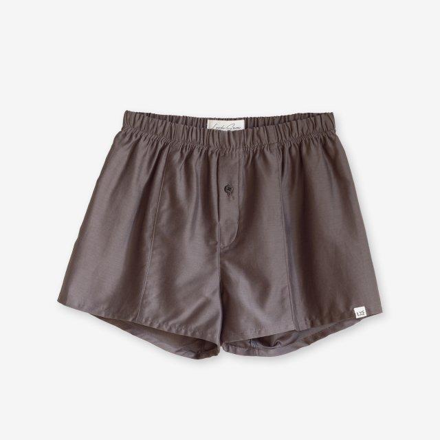 <span>Silk Boxer Shorts / Grey</span>シルク トランクス / グレー