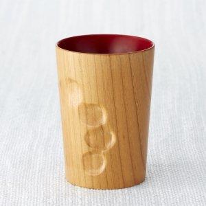 【誕生日、還暦祝い、大切な方へのギフトに】マギーカップ 朱漆   天然木 無垢材