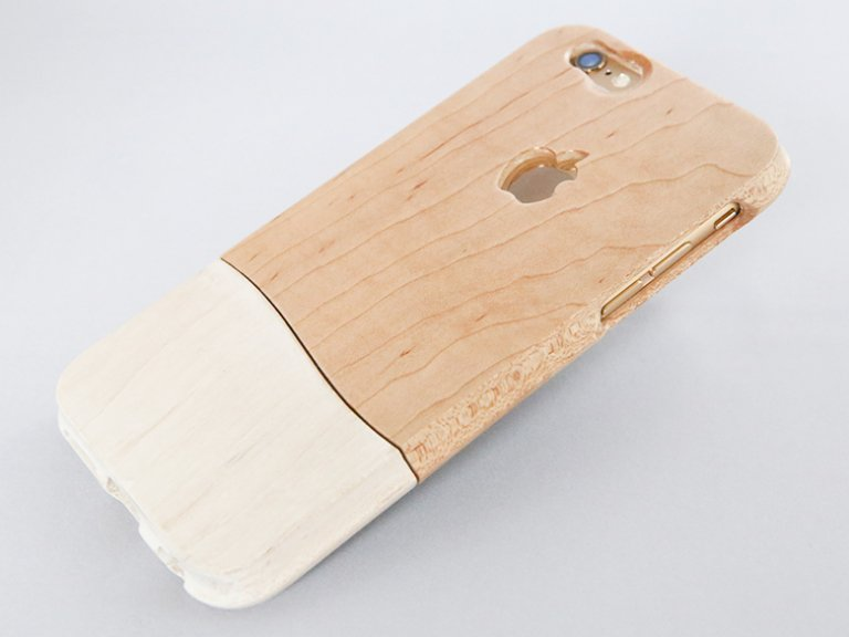 オーダーメイド   永久保証  (壊れても安心 無償交換 )  【 ウッドケース for iPhone ホワイト】 軽く て 握りやすい 木製 スマホ ケース 無垢材 天然木 全機種 対応!
