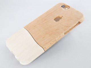 ウッドケース for iPhone ホワイト【機種限定 永久保証付】天然木/木製
