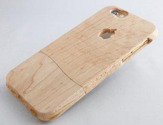 ウッドケース for iPhone 木肌【機種限定 永久保証付】落下防止 握りやすい おしゃれ  な ケース