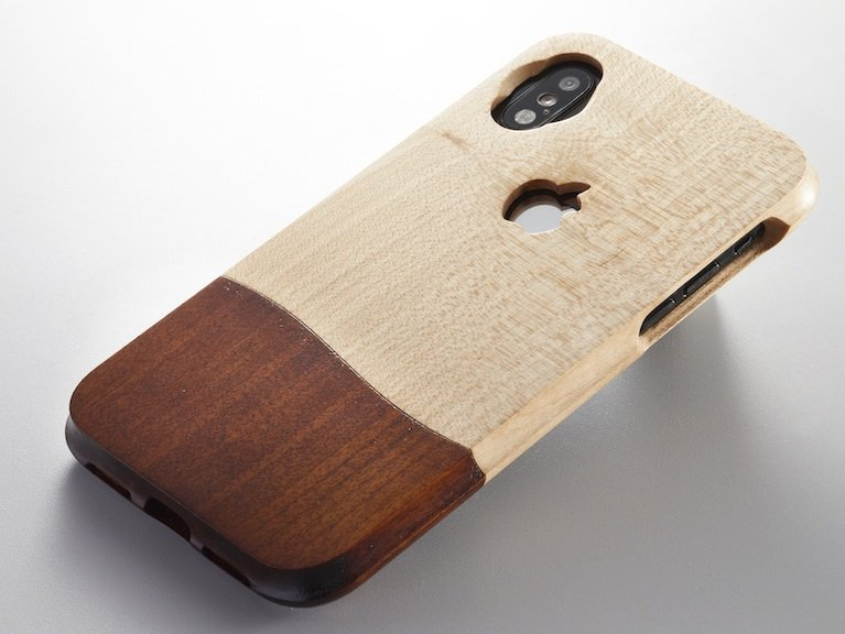天然木 ウッドケース for iPhone 岩手県産 拭 漆 仕上【機種限定 永久保証付】 JAPAN シックな ケース 高級ケース 無垢材削りだし 11・11Pro も対応