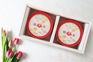 返礼品 ギフトに 【椿茶丸筒2個セット】  紅茶の味わい カフェインゼロ 糖質ゼロ ノンカロリー  ヘルシー で すっきりとした 甘さ プチギフト に!