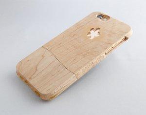 ウッドケース for iPhone Kaori 木肌【機種限定 永久保証付】