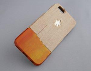 ウッドケース for iPhone Kaori オレンジ【機種限定 永久保証付】お好きな香り を アロマ 香水 フレグランス