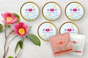 早割!数量限定 送料込!【 椿茶アイスクリーム ・ 椿茶ティーバッグ スペシャルセット 】 送料無料!