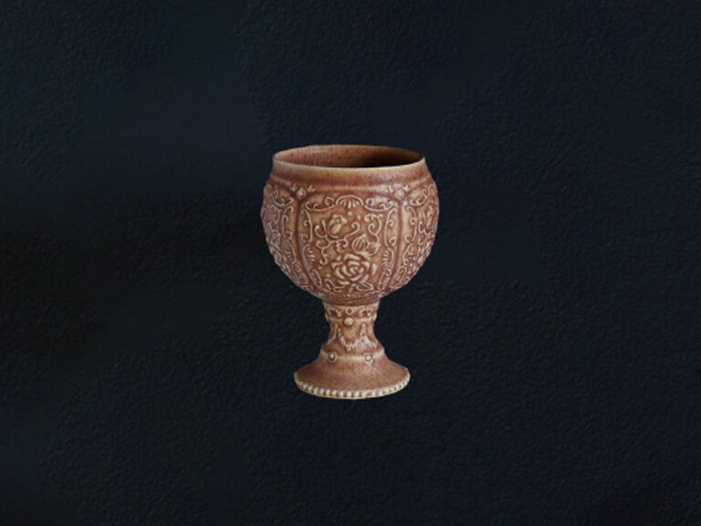 TEA ROSE GOBLET