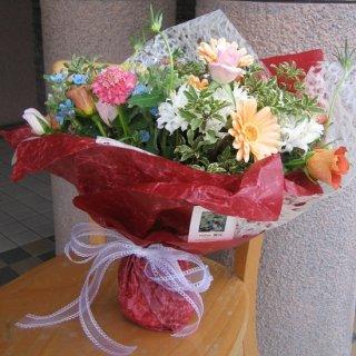 季節の花束 パステルブーケ
