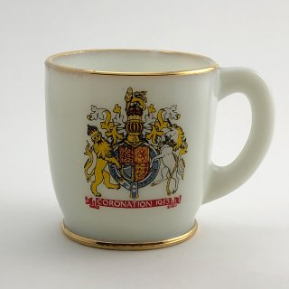 A-002 Antique Cup Elizabeth II Coronation mug 1953, Collectible Mug,