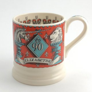 A-004 Antique cup 『HAPPY GLORIOUS』Emma Bridgewater エリザベス女王誕生90歳記念マグカップ