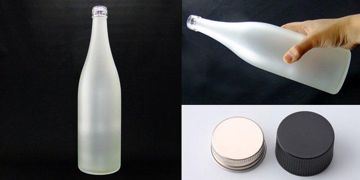 酒・ワイン瓶 サケM720PP フロスト