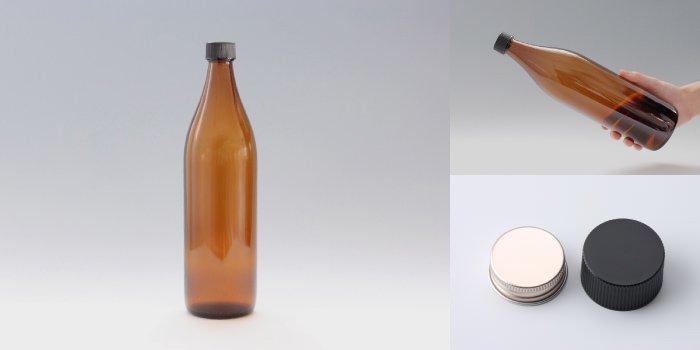 酒瓶 ・ 焼酎瓶 灘900 茶色