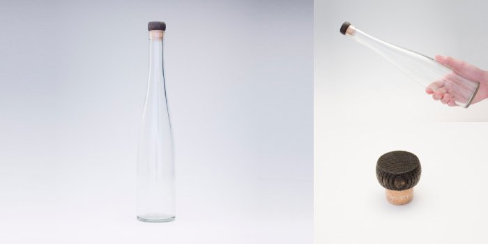 酒・ワイン瓶 375モーゼルF  木口コルク付