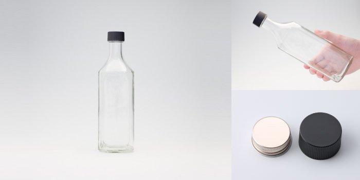 酒・ワイン瓶 S-500角PP (F)