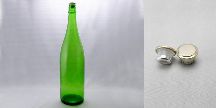 酒・ワイン瓶 清酒1800-EG(一升瓶)  エメラルドグリーン