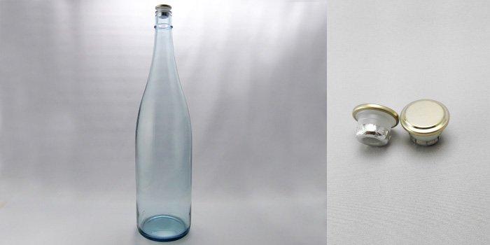 酒・ワイン瓶 清酒1800-LB(一升瓶)  ライトブルー