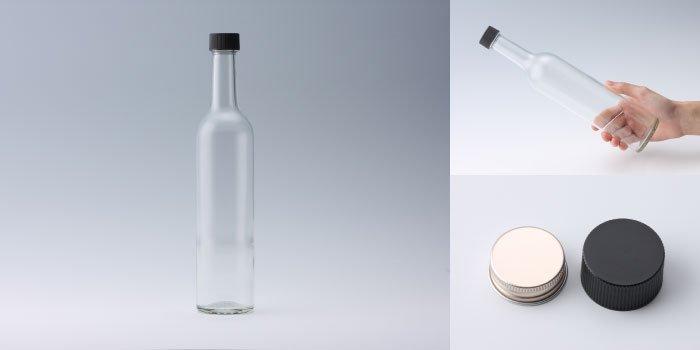 酒・ワイン瓶 スリムワイン500 透明
