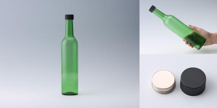 酒・ワイン瓶 スリムワイン500 グリーン
