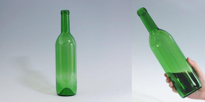酒・ワイン瓶 ワイン720 木口 グリーン