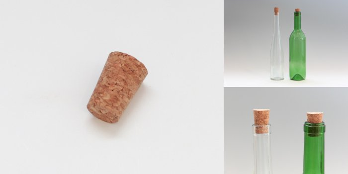 酒・ワイン瓶 ワインびん用圧搾コルク