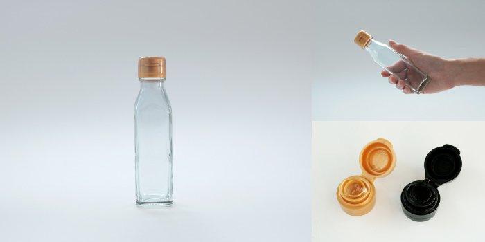 タレ・ドレッシング瓶 調味120角-HC-F