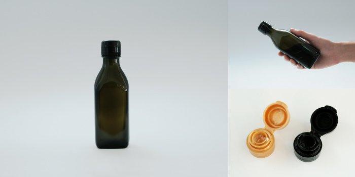 タレ・ドレッシング瓶 調味200角-HC-DS