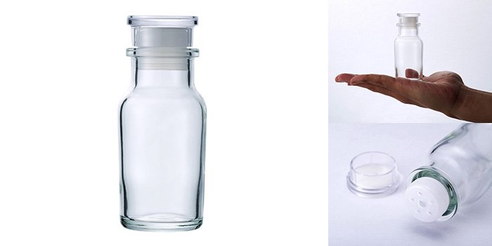 スパイス瓶 ワグナー瓶60 樹脂キャップ 中栓付