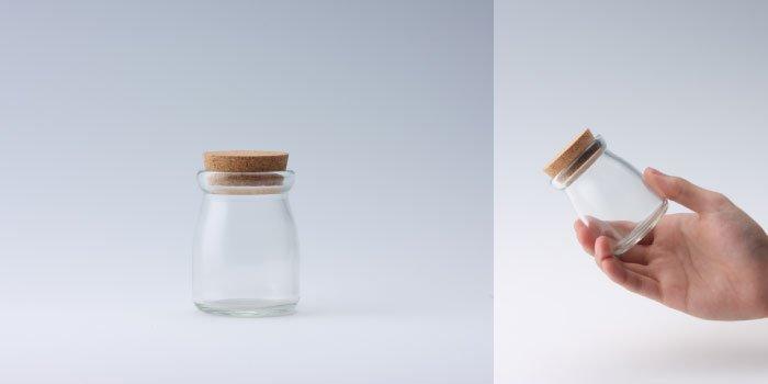 コルク付規格瓶 ヨーグルト100mlコルク付