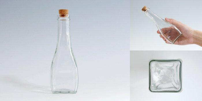 コルク付規格瓶 オールラウンド 180B コルク付