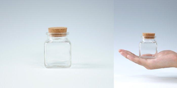コルク付規格瓶 四角ビンコルク付