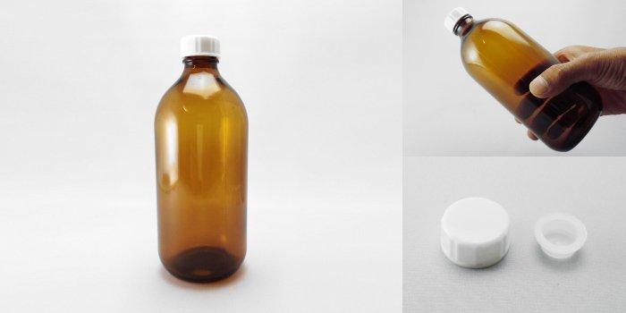 遮光瓶 細口びん 褐色NO.500