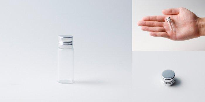 キャップ付瓶 スクリュー管 NO.01 透明 シャインCAP