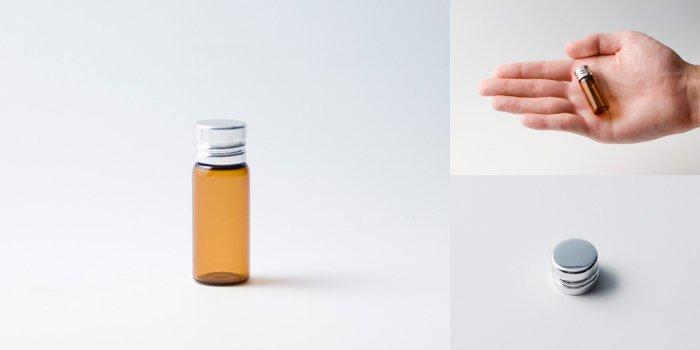 キャップ付瓶 スクリュー管 NO.01 茶 シャインCAP