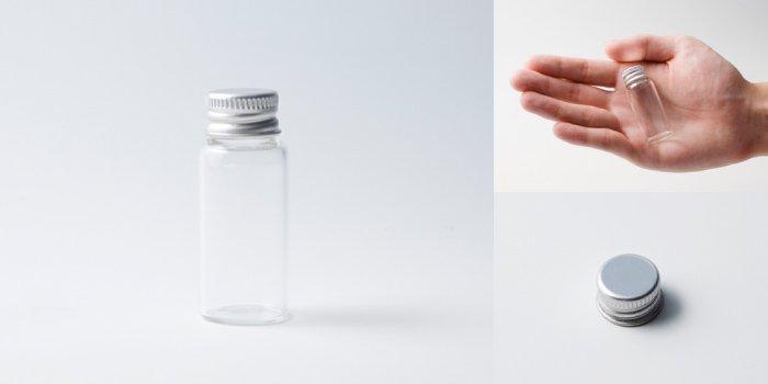 キャップ付瓶 スクリュー管 NO.3L 透明 アルミスクリューCAP