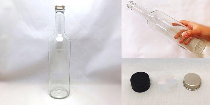 酒・ワイン瓶 ボルドー750PP F