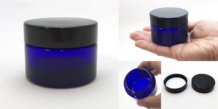 遮光瓶  クリーム瓶 M-40クリーム 黒CAP