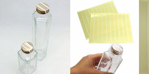 ジャム瓶 未開封シール 透明(白)