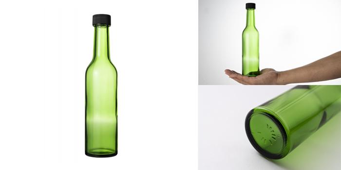 ワイン・洋酒瓶  スリムワイン300 グリーン