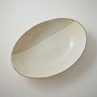 楕円カフェ深鉢 (中) 粉引 信楽 [古谷浩一] Aモヨウ