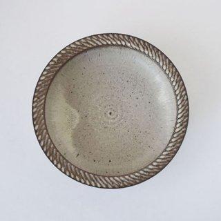 カレー皿(白) 信楽 [山本雅則]