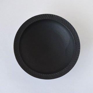 カレー皿(黒) 信楽 [山本雅則]