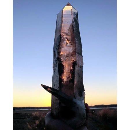 緑泥ヒマラヤ水晶(4.3kg)<br>虹と剣の塔