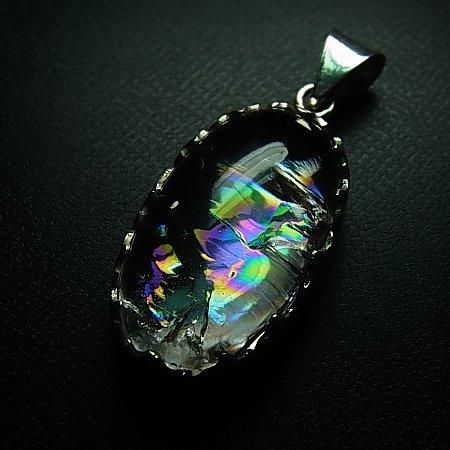 ヒマラヤ水晶ペンダント Rainbow Lotus