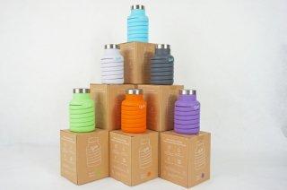 que Bottle L キューボトル Lサイズ 530ml 6色 ブルー/チャコール/オレンジ/ホワイト/グリーン/パープル