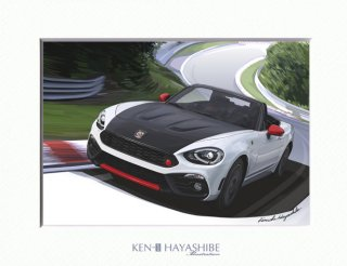 Abarth 124 Spider Heritage Look (white × red)